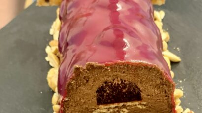 Bûche betterave-chocolat- Menu de Noël Smart Gastronomy Lab
